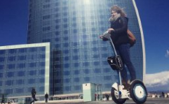 Judging from its popularity at the event, intelligent self-balancing scooters may be set to become an indispensable mode of transporter in the future.