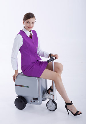 Airwheel SE3 ride to airport
